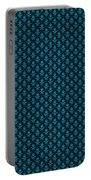 Abby Damask With A Black Background 18-p0113 Portable Battery Charger