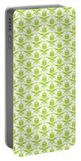 Abby Damask With A White Background 09-p0113 Portable Battery Charger