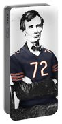 Abe Lincoln In A William Perry Chicago Bears Jersey Portable Battery Charger