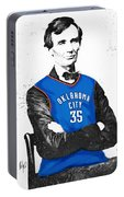 Abe Lincoln In An Kevin Durant Okc Thunder Jersey Portable Battery Charger