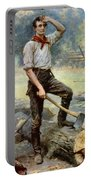 Abe Lincoln The Rail Splitter  Portable Battery Charger by War Is Hell Store