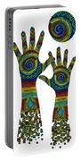 Aboriginal Hands Gold Transparent Background Portable Battery Charger