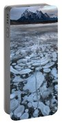 Abraham Lake Ice Bubbles Portable Battery Charger