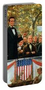 Abraham Lincoln And Stephen A Douglas Debating At Charleston Portable Battery Charger by Robert Marshall Root