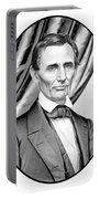 Abraham Lincoln Circa 1860 Portable Battery Charger by War Is Hell Store