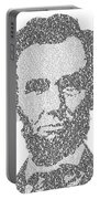 Abraham Lincoln Typography Portable Battery Charger