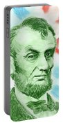 Abraham Lincoln  Portable Battery Charger by Yoshiko Mishina