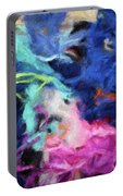 Abstract 130 Digital Oil Painting On Canvas Full Of Texture And Brig Portable Battery Charger