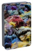 Abstract 133 Digital Oil Painting On Canvas Full Of Texture And Brig Portable Battery Charger
