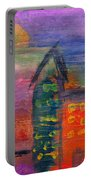 Abstract - Acrylic - Lost In The City Portable Battery Charger