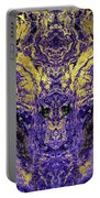 Abstract Amethyst  With Gold Marbled Texture Portable Battery Charger