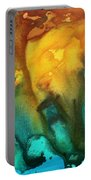 Abstract Art Colorful Turquoise Rust River Of Rust IIi By Madart Portable Battery Charger