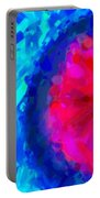 Abstract Art Combination - The Pink Martian Crater, Ca 2017, By Adam Asar ,  In 3d Watercolor Portable Battery Charger