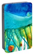 Abstract Art - Journey To Color - Sharon Cummings Portable Battery Charger