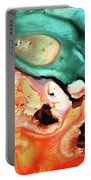 Abstract Art - Just Say When - Sharon Cummings Portable Battery Charger