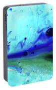 Abstract Art - Making Waves - Sharon Cummings Portable Battery Charger