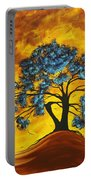 Abstract Art Original Landscape Painting Dreaming In Color By Madartmadart Portable Battery Charger