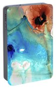 Abstract Art - The Journey Home - Sharon Cummings Portable Battery Charger