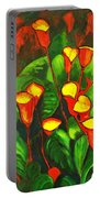 Abstract Arum Lilies Portable Battery Charger