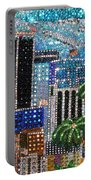 Los Angeles. Rhinestone Mosaic With Beadwork Portable Battery Charger