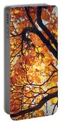 Abstract Autumn Impression Portable Battery Charger