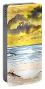 Abstract Beach Sand Dunes Portable Battery Charger