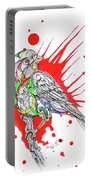 Abstract Bird 002 Portable Battery Charger