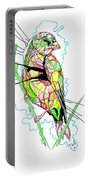 Abstract Bird 01 Portable Battery Charger