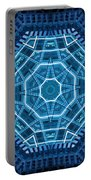Abstract Blue 18 Portable Battery Charger