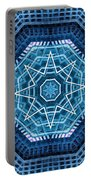 Abstract Blue 20 Portable Battery Charger