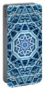 Abstract Blue 22 Portable Battery Charger
