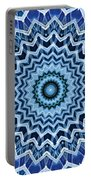 Abstract Blue 25 Portable Battery Charger