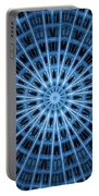 Abstract Blue 28 Portable Battery Charger