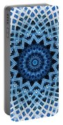 Abstract Blue 30 Portable Battery Charger