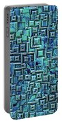 Abstract Blue And Green Pattern Portable Battery Charger