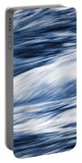 Abstract Blue Background Wild River Portable Battery Charger