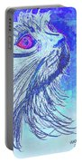 Abstract Blue Cat Portable Battery Charger