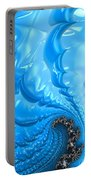 Abstract Blue Winter Fractal Portable Battery Charger