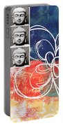 Abstract Buddha Portable Battery Charger