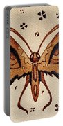 Abstract Butterfly Coffee Painting Portable Battery Charger