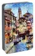 Abstract Canal Scene In Venice L B Portable Battery Charger