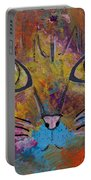 Abstract Cat Meow Portable Battery Charger