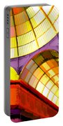 Abstract Cathedral Color Wheel Portable Battery Charger