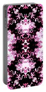 Pink And Black Design  Portable Battery Charger