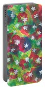 Abstract Circles With Flowers Portable Battery Charger