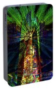 Abstract City In Green Portable Battery Charger