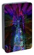 Abstract City In Purple Portable Battery Charger