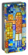 Abstract City Portable Battery Charger