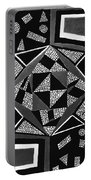 Abstract Cobblestone Blk/wht. Portable Battery Charger