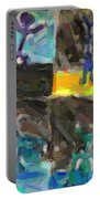 Abstract Color Combination Series - No 9 Portable Battery Charger